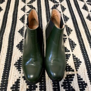 Marais USA Leather Hunter Green Ankle Boots